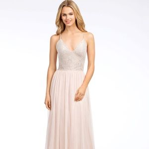 Hayley Paige Occasions Lace and Tulle Formal Gown